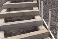 Pager Link for Timber box tread steps being built
