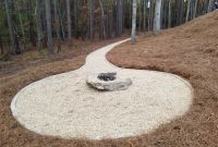 Pager Link for Bolder fire-pit and pea-gravel pathway