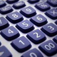 a close up of a calculator