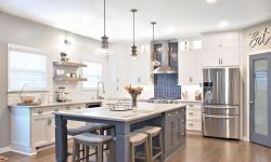 Thumbnail control image for a large kitchen with stainless steel appliances