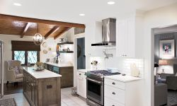 Thumbnail control image for a kitchen with an island in the middle of a room