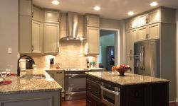 Thumbnail control image for a modern kitchen with double stacked upper cabinets