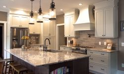 Thumbnail control image for a modern kitchen with a curved wood hood