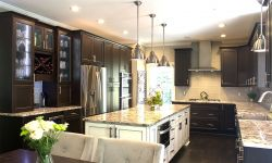 Thumbnail control image for a contemporary kitchen with a large island