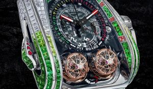 Jacob & Co. Reveals Twin Turbo Furious in White Gold with 344 Baguette-Cut Diamonds And Tsavorites