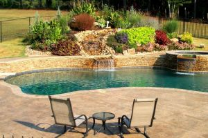 Gunite Pool with water feature