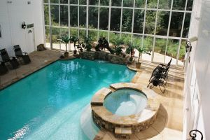 Indoor Gunite Pool With Spa