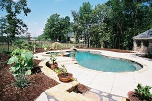 Gunite Pool with Custom Spa/Diving Board