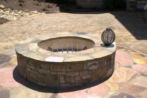 Enjoy a fire pit in your backyard resort