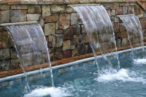 Stacked Stone Water Feature