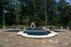 Gunite Pool with Outdoor Living Area