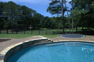 Gunite Pool with Inground Trampoline