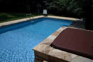 Rectangle Pool With Bullfrog Spa