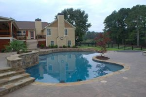 Freeform Gunite Pool With Pebble Surface