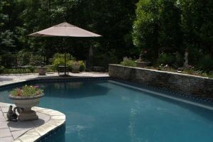 Gunite Pool with Retaining Wall