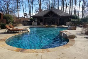 In-Ground Pebble Surface Pool Maintained By Brown's Pools & Spas