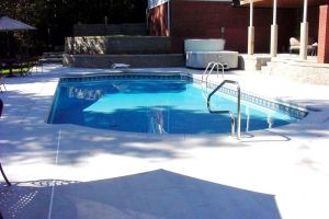 Rectangle Vinyl Pool With Outdoor Additions