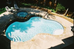 Gunite Pool with Spill Over Spa