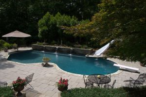 Gunite Pool with Slide