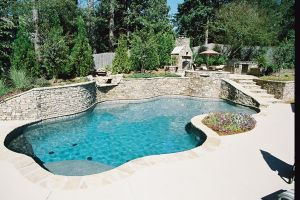 Gunite Pool with Custom Rock Features