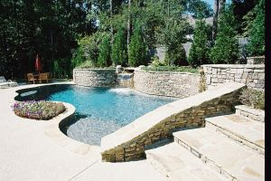 Gunite Pool with Custom Stone Work