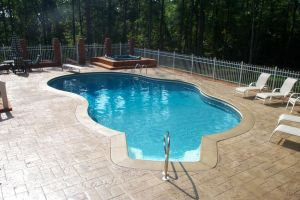 Freeform Pool w/ Stand Alone Spa