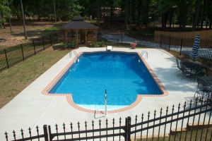 Vinyl Pool with Custom Decking
