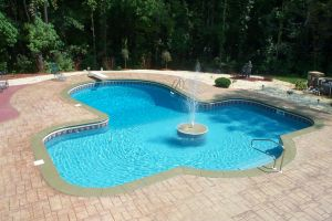 Freeform Pool with Water Feature