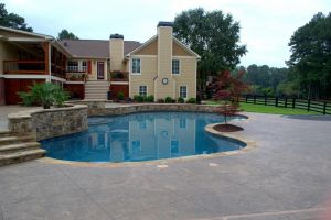 Gunite Pool Custom Deck Work