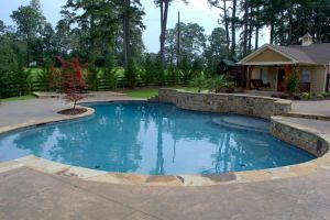 Gunite Pool with custom decking