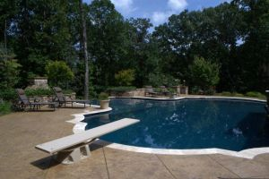 Gunite Pool with diving board