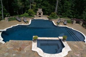 Gunite Pool with backyard living features