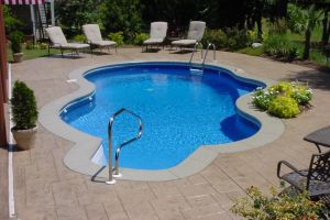 Freeform Vinyl Patio Pool