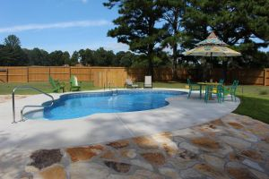 Freeform Pool With Custom Decking