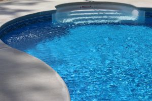 Freeform Pool With Walk-In Steps