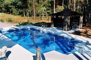 Rectangle Vinyl Pool with Diving Board