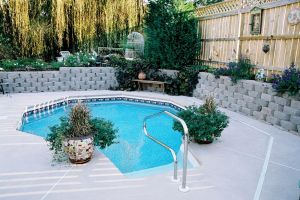 Freeform Vinyl Pool with Custom Decking