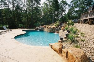 Gunite Pool with Water Features