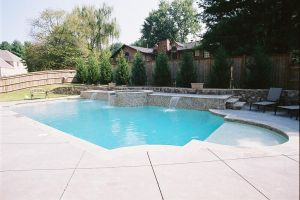 Gunite Pool, tanning ledge & water feature