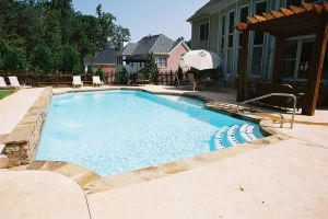 Gunite Pool With Natural Stone Decking
