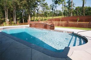 Gunite Pool with special water feature