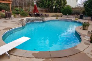 Vinyl Liner Pool Maintained By Brown's Pools & Spas