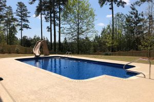 Rectangle Vinyl Liner Pool w/Slide