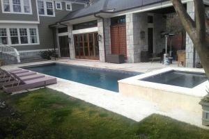 Gunite Pool w/Spillover Spa Maintained by Brown's Pools & Spas