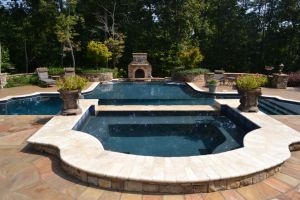 Multi-Level Pool Maintained By Brown's Pools & Spas
