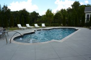 Gunite Pool Design with Water Features