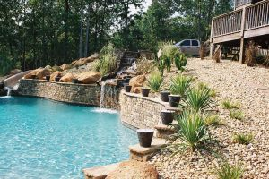 Water Features For A Gunite Pool