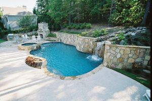 Gunite Pool with Waterfall Features