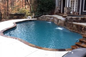 Renovation: Freeform Gunite Pool