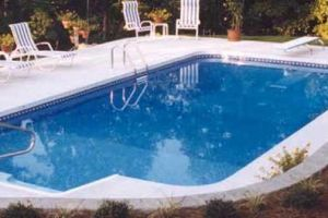 Rectangle Pool with Deep End